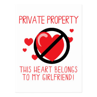 Love My Girlfriend Postcard