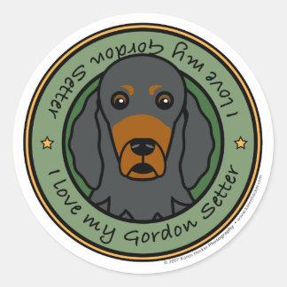 Love My Gordon Classic Round Sticker