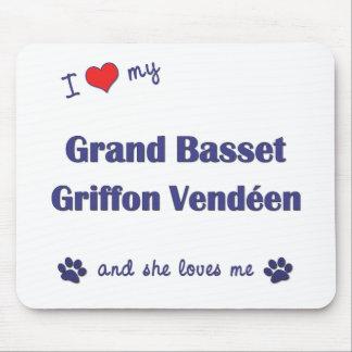Love My Grand Basset Griffon Vendeen (Female Dog) Mouse Pad