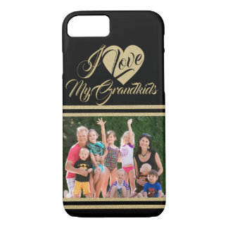 Love My Grandbabies with Photo iPhone 8/7 Case