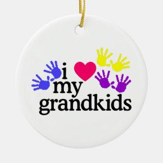 Love My Grandkids Ceramic Ornament