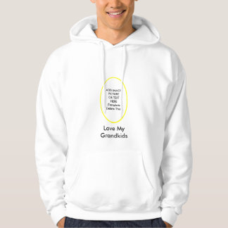 Love My Grandkids The MUSEUM Gifts Add Picture Hooded Sweatshirt