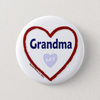 Love My Grandma Pinback Button