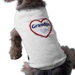 Love My Grandpa Doggie T Shirt