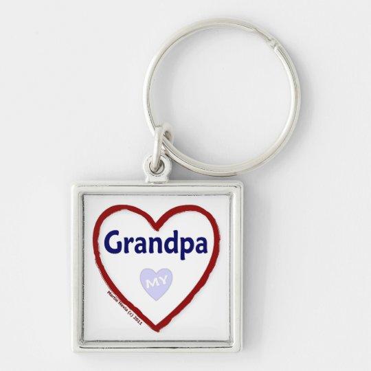 Love My Grandpa Keychain