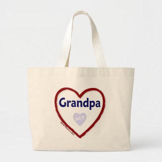 Love My Grandpa Large Tote Bag