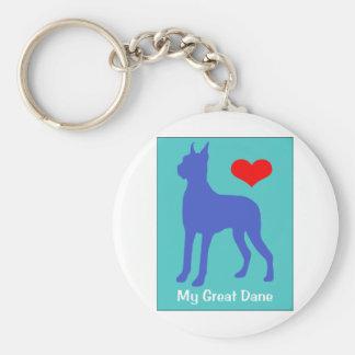 Love My Great Dane Keychain