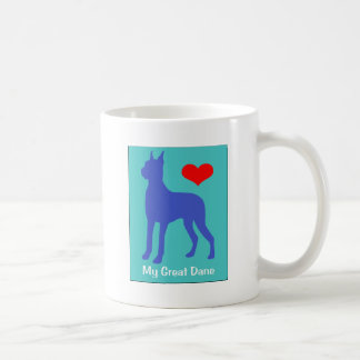 Love My Great Dane Classic White Coffee Mug