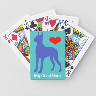 Love My Great Dane Playing Cards