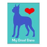 Love My Great Dane Postcard