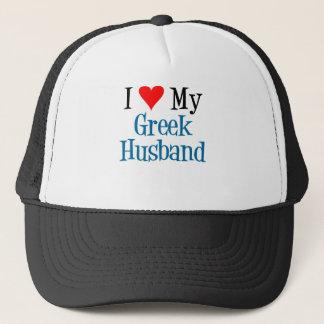 Love My Greek Husband Trucker Hat