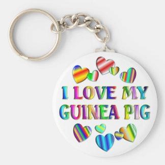 Love My Guinea Pig Basic Round Button Keychain