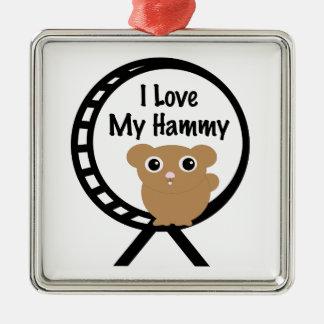 Love My Hammy Metal Ornament