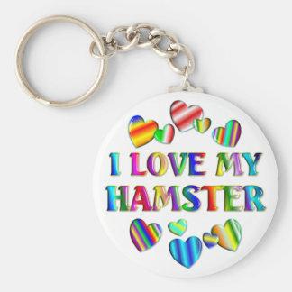 Love My Hamster Keychain