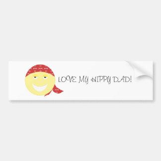 LOVE MY HIPPY DAD BUMPER STICKER