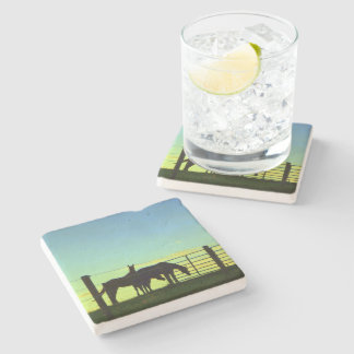 Love my Horse! Horseback Riding. Sunsets Stone Coaster