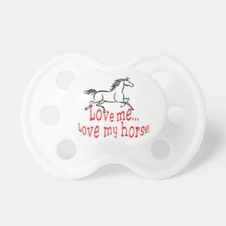 Love My Horse Pacifier