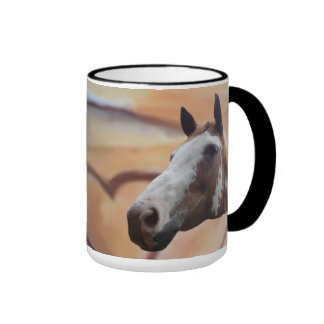 Love My Horses Ringer Coffee Mug