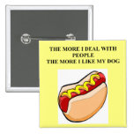 love my hot dog pinback buttons