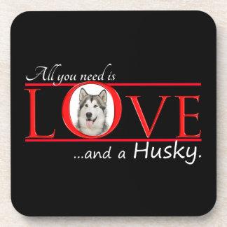 Love My Husky Coaster Set