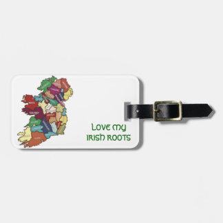 LOVE MY  IRISH ROOTS TRAVEL BAG TAGS