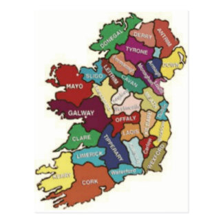 LOVE MY  IRISH ROOTS POSTCARD