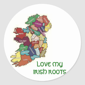 LOVE MY  IRISH ROOTS STICKERS