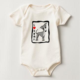 Love My Italian Greyhound - Grey Baby Bodysuit