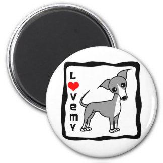 Love My Italian Greyhound - Grey Magnet