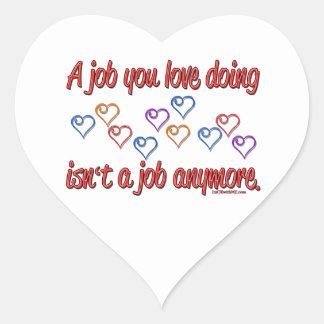 Love My Job Heart Stickers