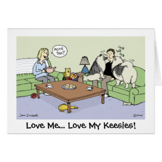 Love My Keeshonden Card