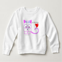 Love My Kitty Toddler Fleece Sweatshirt