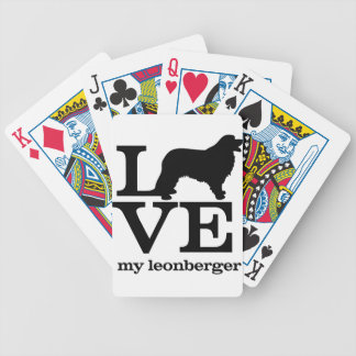 Love my Leonberger Bicycle Playing Cards