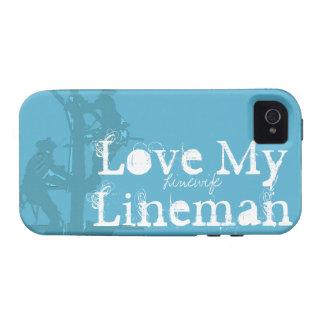 Love My Lineman {Blue} iPhone 4 Case