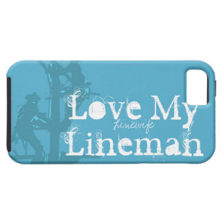 Love My Lineman {Blue} iPhone 5 Covers