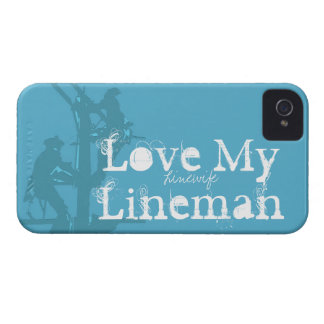 Love My Lineman {Blue} iPhone 4 Cover