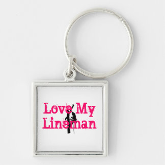 Love My Lineman Keychain-Pink Keychain