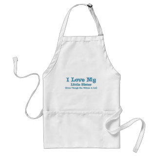 Love My Little Sister Adult Apron