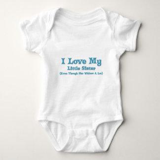 Love My Little Sister Baby Bodysuit