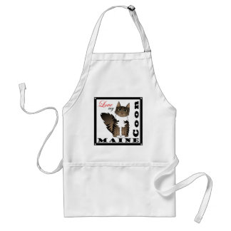 Love My Maine Coon Cat - Brown Tabby Adult Apron