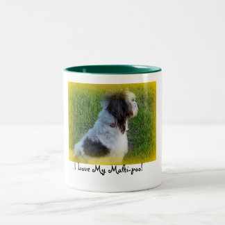Love My Malti-poo! Green interior mug