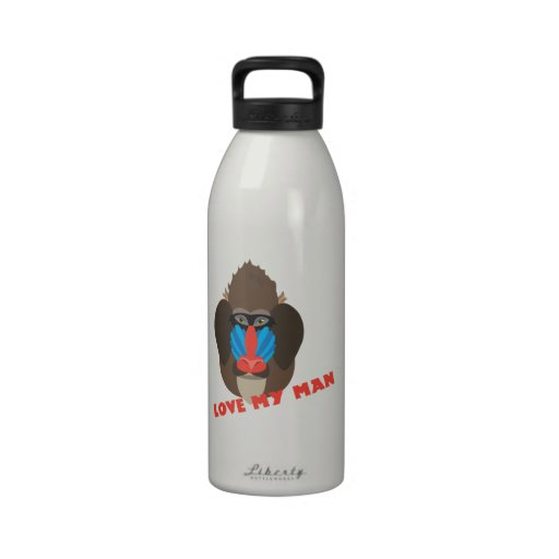 Love My Man Water Bottles