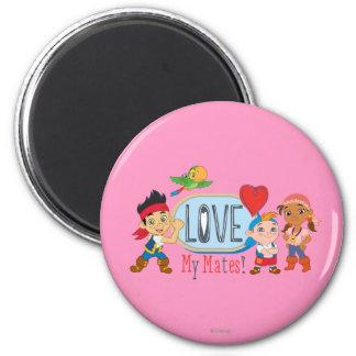 Love My Mates! 2 Inch Round Magnet