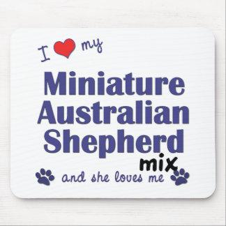 Love My Mini Australian Shepherd Mix (Female Dog) Mouse Pad