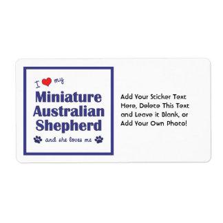 Love My Miniature Australian Shepherd (Female Dog) Shipping Label