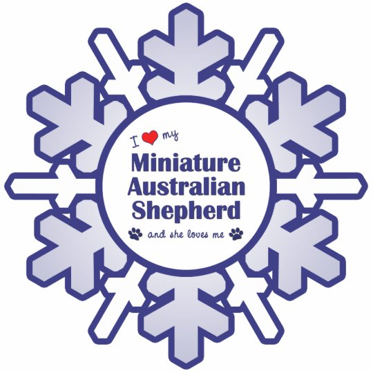 Love My Miniature Australian Shepherd (Female Dog) Statuette