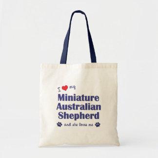Love My Miniature Australian Shepherd (Female Dog) Tote Bag