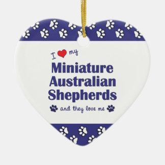 Love My Miniature Australian Shepherds (Multiple) Ceramic Ornament