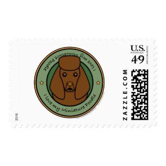 Love My Miniature Poodle Postage Stamp