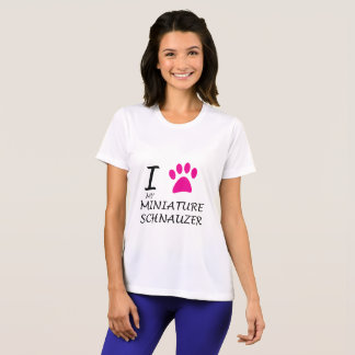 Love My Miniature Schnauzer Paw T-Shirt